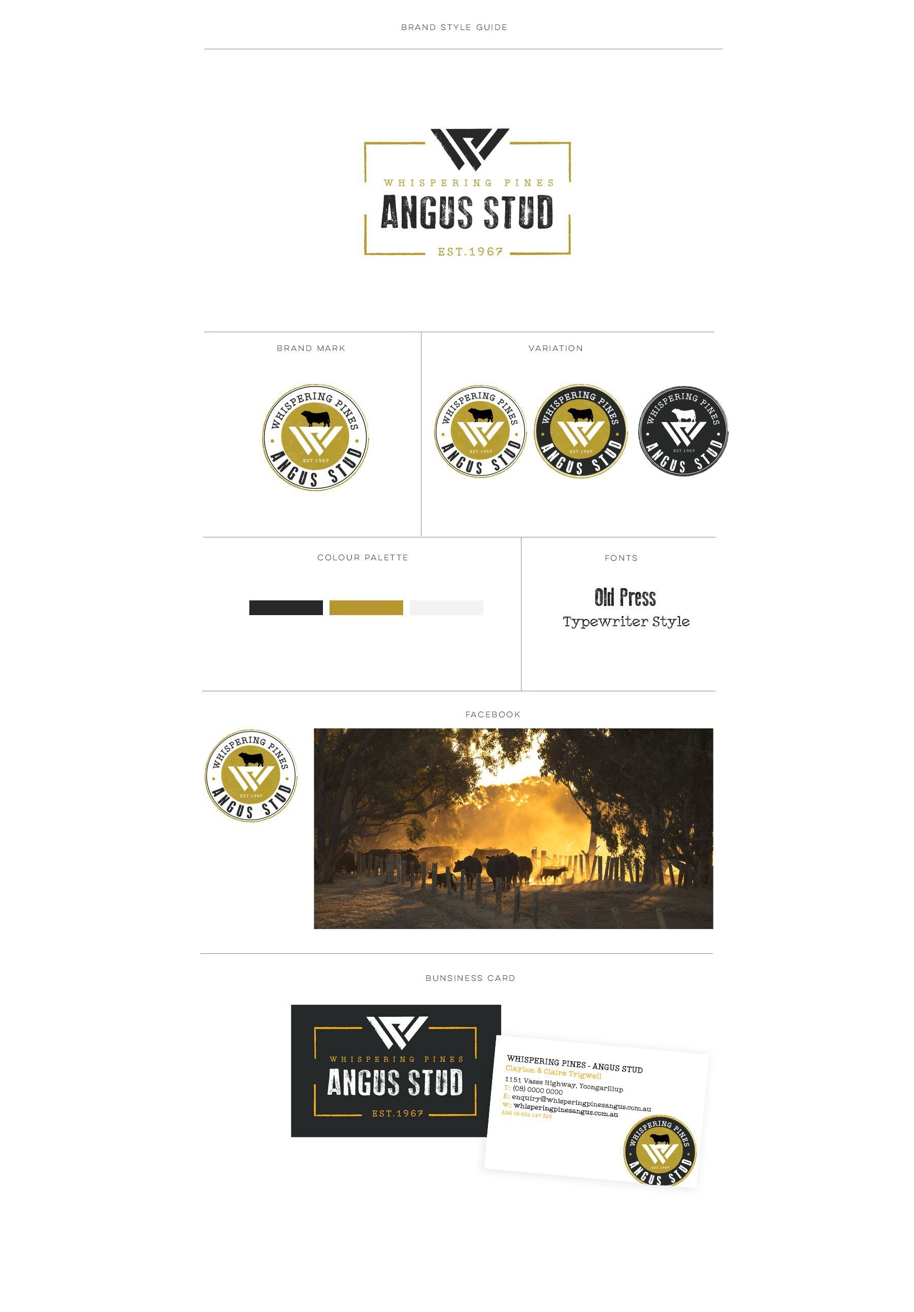 New Whispering Pines Angus Stud Brand Style Template